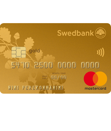 Gold revolving credit card