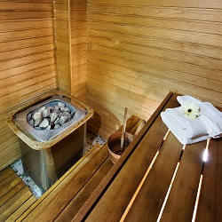 Sauna package at the hotel L'Ermitage