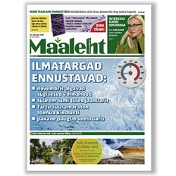 3-month subscription to Maaleht weekly